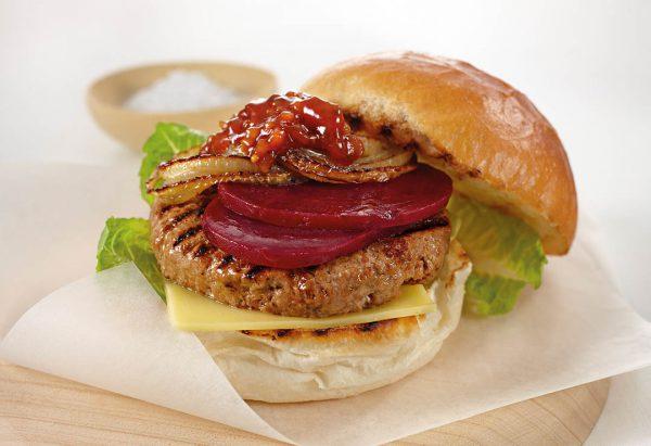 Hamburger củ dền
